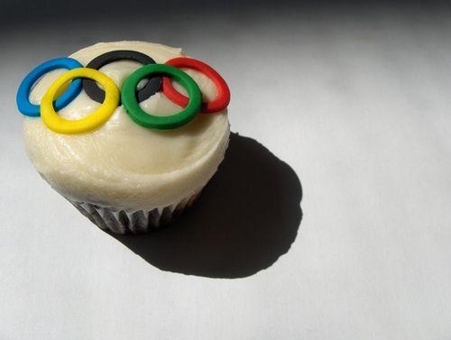 olympic cupcake
