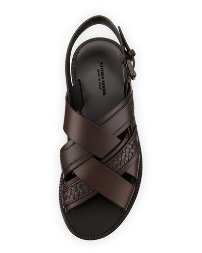 Bottega Veneta criss cross leather sandals