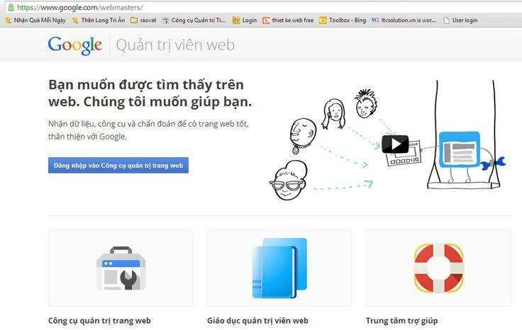 đăng nhập trang Google Webmaster Tool