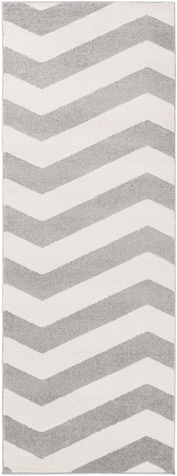 Horizon Ivory and Grey Chevron Area Rug