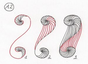 #DoubleHelixA2   #Zendoodle #zentangle .. Several more interesting ones on the same page.