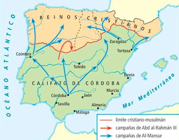 mapa califato cordoba
