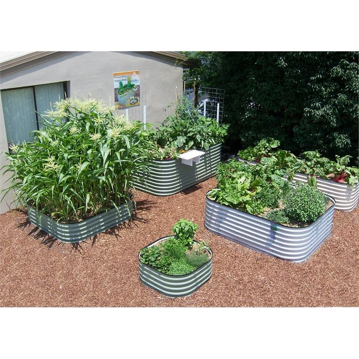 Birdies 2200 x 1300 x 400mm Paperbark 6 In 1 Raised Garden