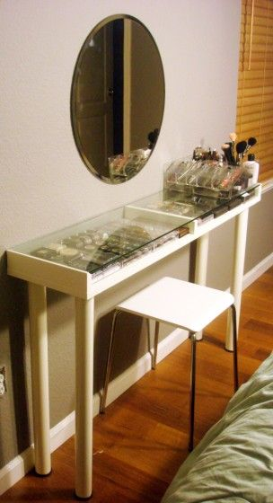 diy make up eitelkeit make up eitelkeiten make up speicher wulst speicher ikea hacks perfekte make up beine diy deco makeup stand - Makeup Eitelkeit Beleuchtung Ikea