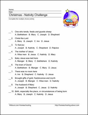 Christmas Nativity Wordsearch, Crossword, and More: Christmas - Nativity Challenge