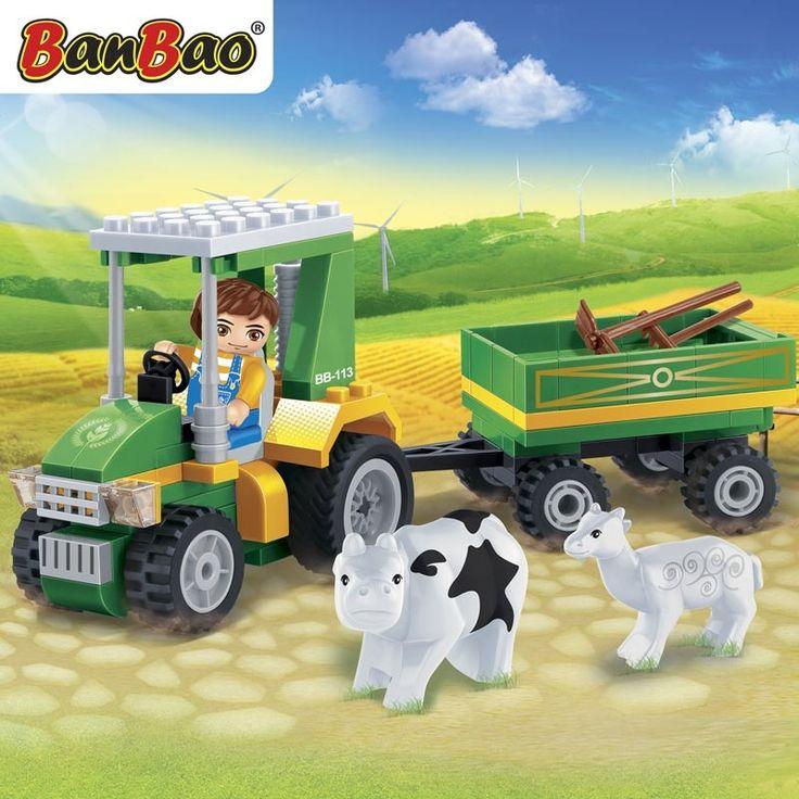 Tractor met aanhanger (8586)