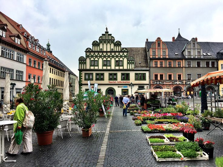 Market Square in Weimar, Germany