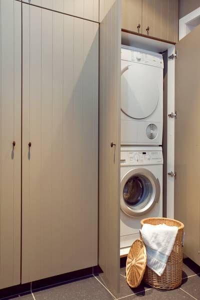 Wasmachine Droger Kast op Pinterest  Complete Badkamer, Hoofdsuite en