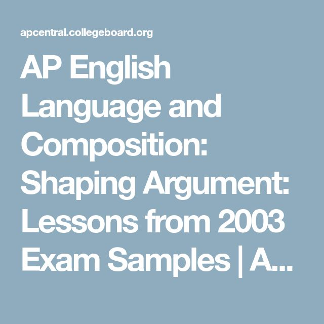 1999 ap english language and composition essay The newest section of the ap english language and composition exam, the synthesis essay, is one of three essays you will be completing during the however, you'll also have a 15-minute reading and planning period just for this essay, and if you use this time to plan effectively, you can't go wrong.