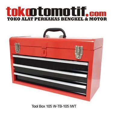 Kode : 11038000901 Nama : Tool Box 105 Merk : IWT Tipe : W-TB-105 Status : Siap Berat Kirim : 5 Kg