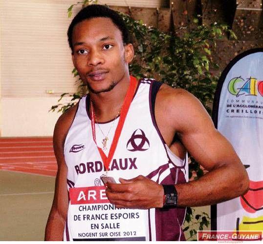 Alan Alaïs a décroché la médaille d'argent aux championnats de France espoirs au saut en longueur