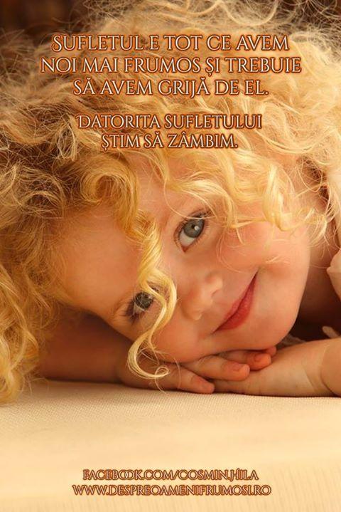 Sufletul e tot ce avem noi mai frumos și trebuie să avem grijă de el. Datorita sufletului știm să zâmbim.  Seară frumoasă prieteni... oriunde v-ați afla!  http://ift.tt/2dUqotH