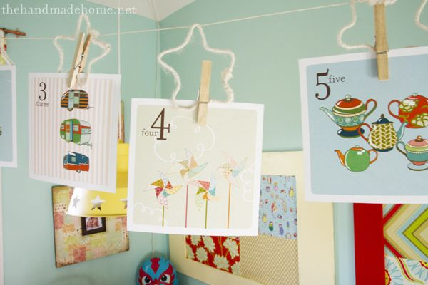 This site has some awesome free printable pics. This one is numbers. Would be really cute in a kids room or classroom.