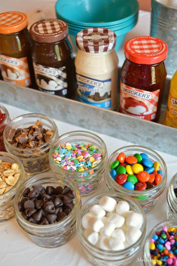 Build Your Own Sundae Bar with Smucker's #SundaeFundae AD