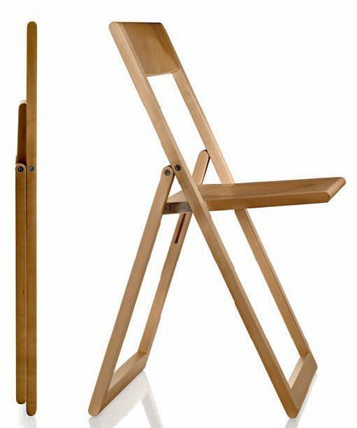 silla moderna plegable para uso profesional AVIVA by Marc Berthier MAGIS