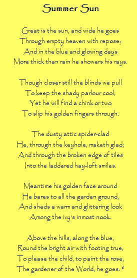 A poem by Robert Louis Stevenson - love the imagery...