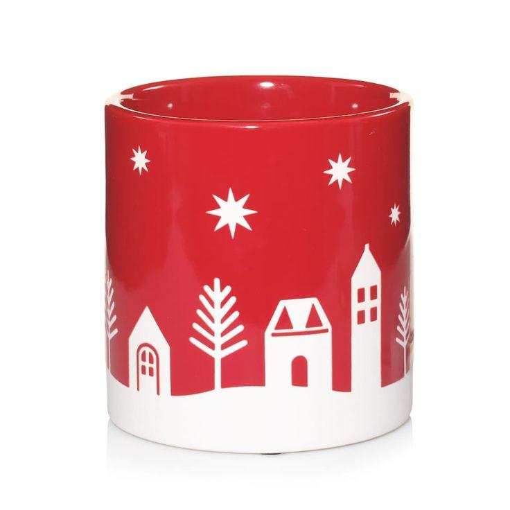 Yankee Candle Winter Village Wax Melt Warmer, Red