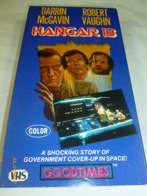 Hangar 18 VHS Darrin McGavin Robert Vaughn Color 104 Minutes 1985 by 2xisnice on Etsy