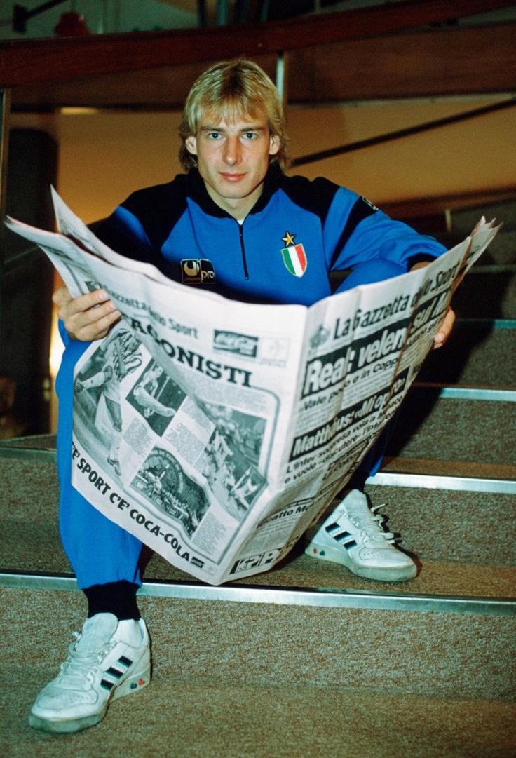 Jurgen Klinsmann, from his Inter Milan days.