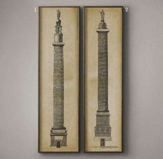 Trajan's Column Etchings Print :  Old by FirstClassDesignCo