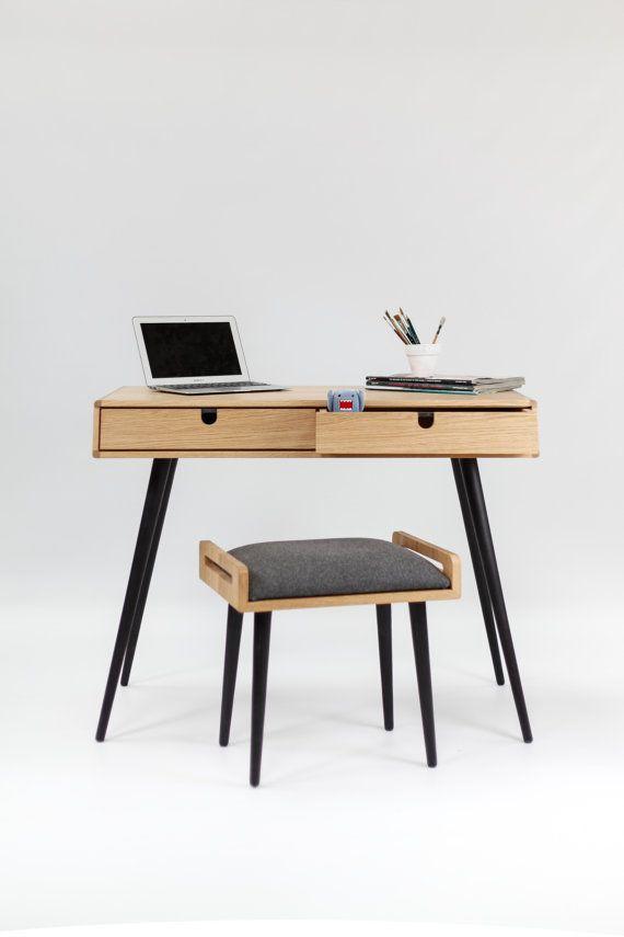 Secretária em madeira de carvalho Bureau penteadeira by Habitables