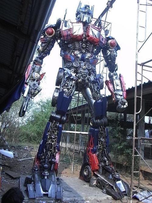 Optimus Prime made from #ScrapCar Parts