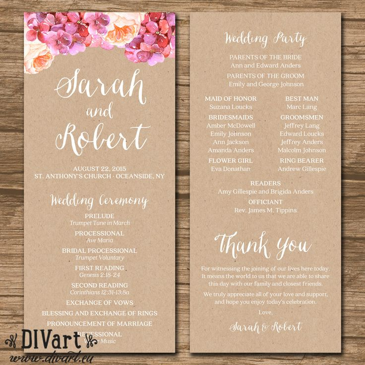 25+ best ideas about Wedding programs on Pinterest   Ceremony ...