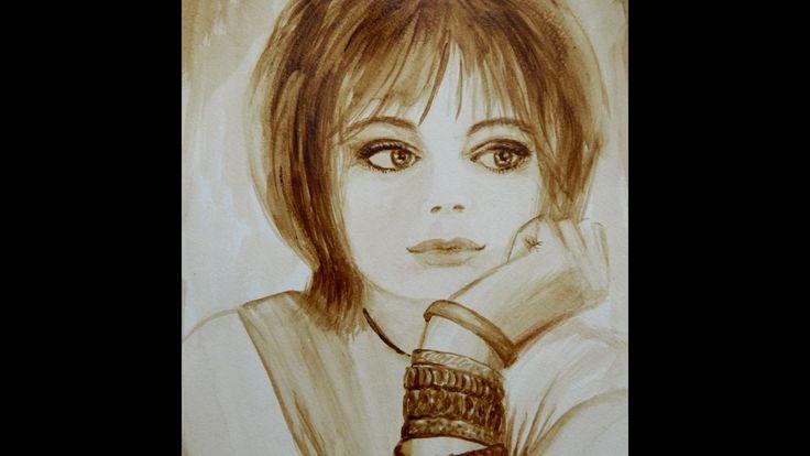 Как нарисовать кофейный портрет / How to draw a portrait of coffee
