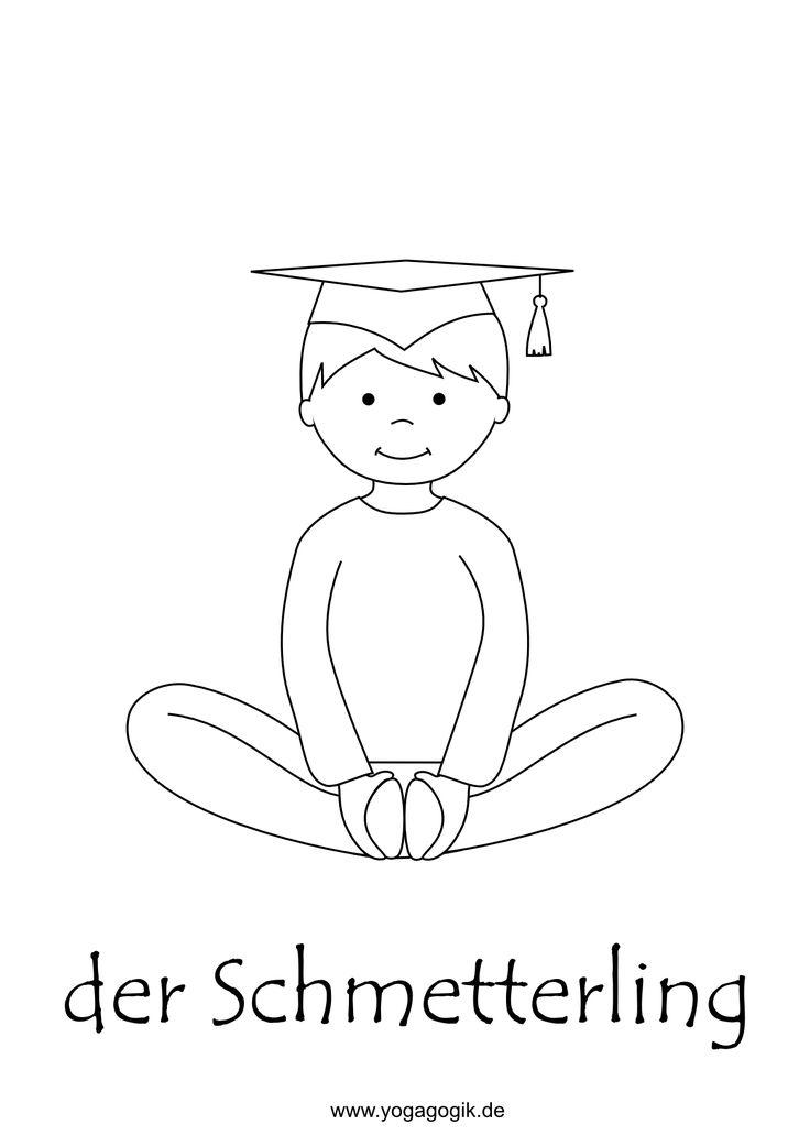 kinderyoga ausmalbild schmetterling mit bildern  yoga