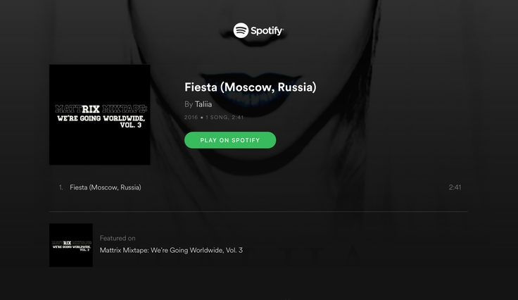 🎧 Listen Fiesta featured in Mattrix Mixtape: We're Going Worldwide, Vol. 3 presented by Matthew Rix on Spotify ⇢ smarturl.it/FiestaMattrixMixV3 ✪ Yandex.Music ⇢ smarturl.it/FiestaMattrixMixY  💛 Vote for your favorite #MattrixMixtape artist ⇢ mattrixmixtape.com/vote.html  #RealMusicMatters #supportindiemusicartist #Taliia #TheOneFromSeptember #TaliiaBand #SingerTaliia #TaliiaMusic #TeamGMG #TeamDEG #DEGrecords #ElectroPop #Pop #NewPop #PopMusic #PopArtist #PopSinger #NewArtist