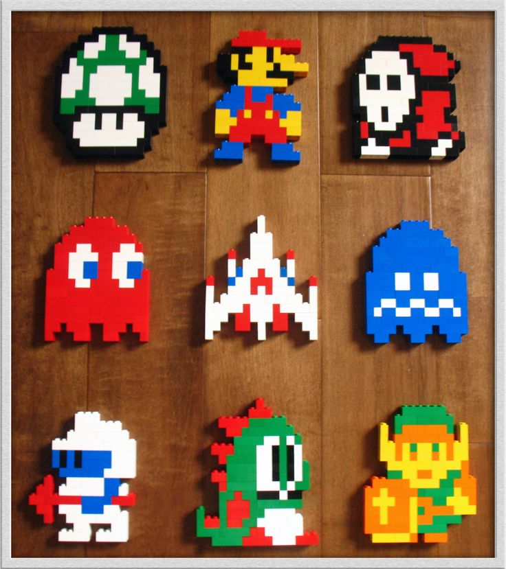 8-Bit Lego Heroes by ~jamesthe4 on deviantART