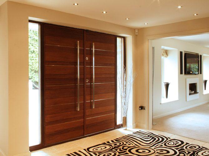 contemporary oak double front doors - Google zoeken