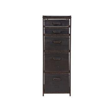vtwonen BePureHome Stuff Ladenkast - Rustiek Zwart Deze retro ladenkast staat goed in een hedendaags interieur.   249,00
