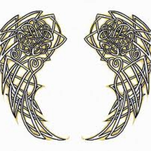 tattoo celtic angel wings tattoo pinterest wings celtic and angel wings. Black Bedroom Furniture Sets. Home Design Ideas