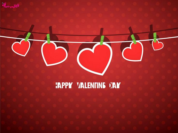 Happy Valentines Day Wishes Messages Greetings SMS with Card Picture