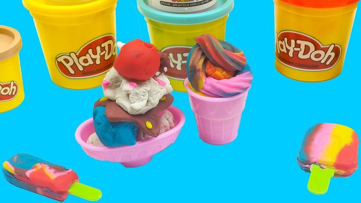 Rainbow Color Play Doh Ice cream For Baby Doll!Diy How To Make Play Doh ...