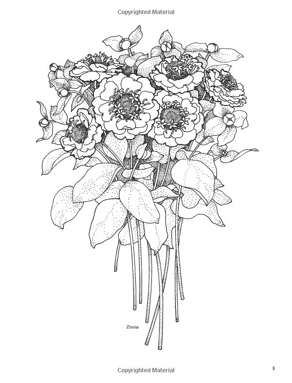 Treasury of Flower Designs for Artists, Embroiderers and