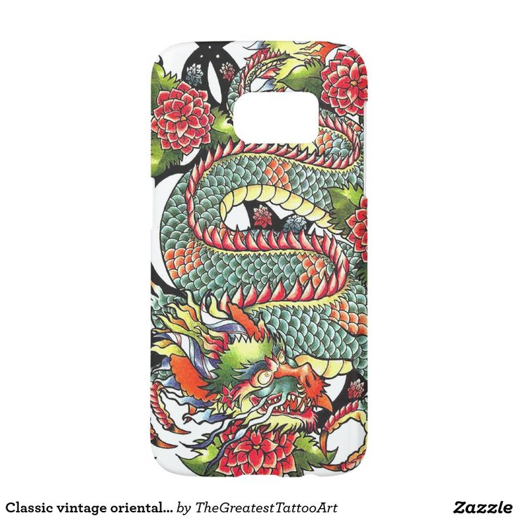 Classic vintage oriental japanese Dragon Tattoo Samsung Galaxy S7 Case