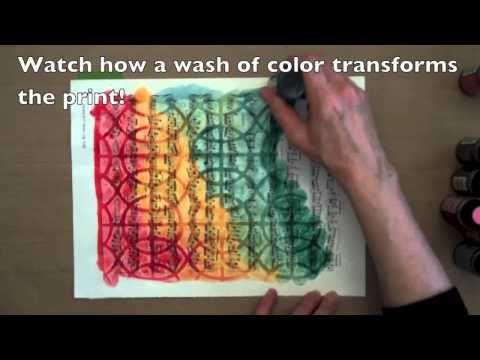 Clearly Gelli-Printed! - YouTube