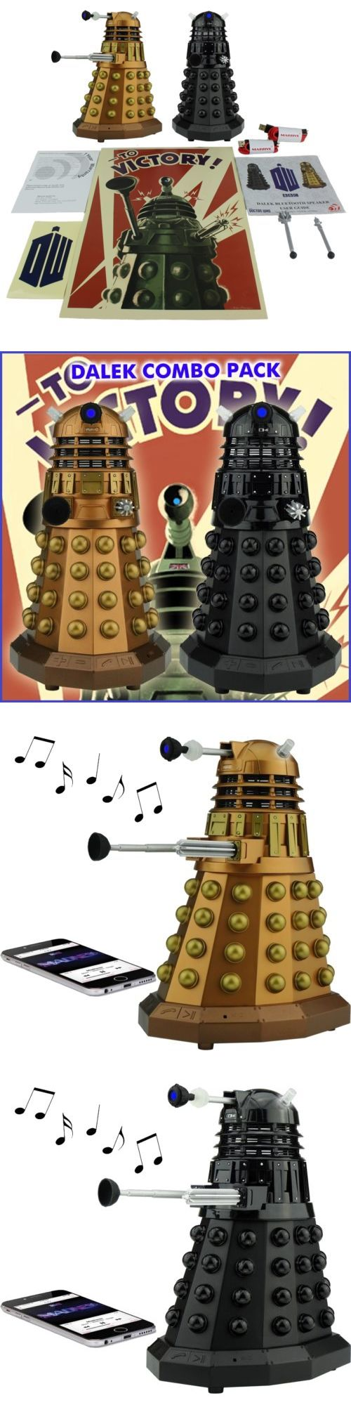 Bluetooth Handsfree Car Kits: Doctor Who Dalek Portable Bluetooth Speaker Combo Pack With Leds And Sound Effects BUY IT NOW ONLY: $89.95
