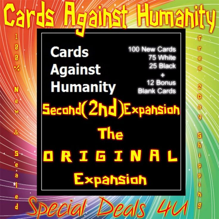 Cards Against Humanity Second 2nd Expansion 100 New Card Game Party Set Packs Oh #New