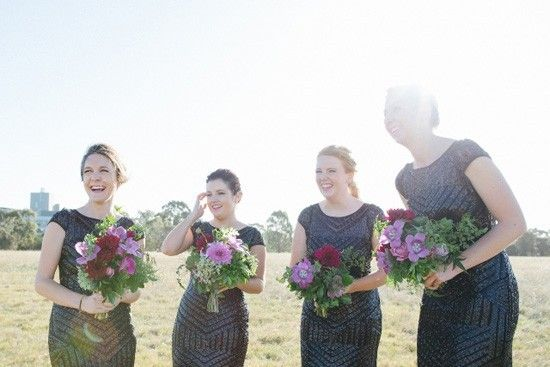 Chic Black Bridesmaid Dresses - Polka Dot Bride