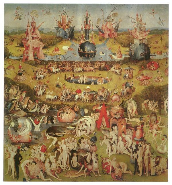 """Hieronim Bosch """"Ogród rozkoszy ziemskich"""" (ok. 1480-1490)"""
