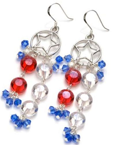 102 best patriotic images on pinterest beaded jewelry for Patriotic beaded jewelry patterns