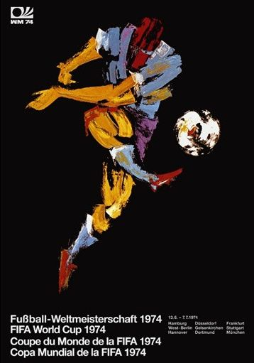 Germany, 1974 World Cup Poster | http://www.pinterest.com/richtapestry/vintage-posters/
