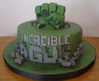 Torta Decorada Increible Hulk Super Heroes - $ 165,00 en MercadoLibre