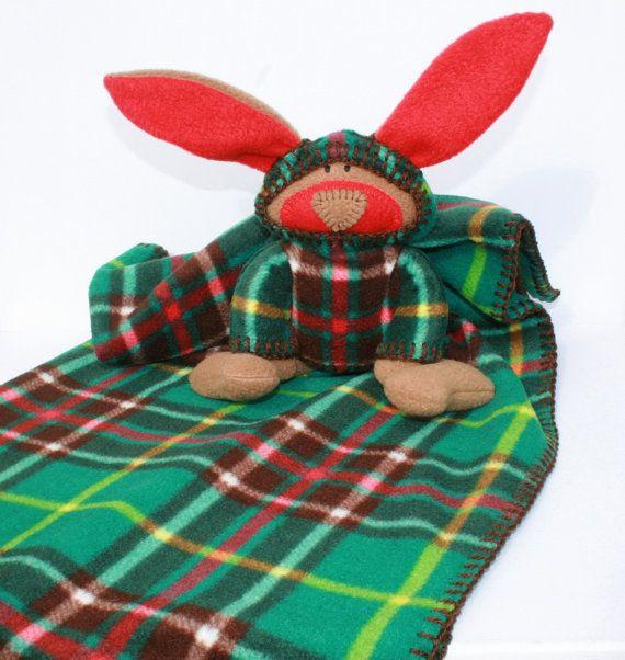 McPlaid Bunny Blankie Newfoundland Tartan by TwistedKnickersInc, $59.00