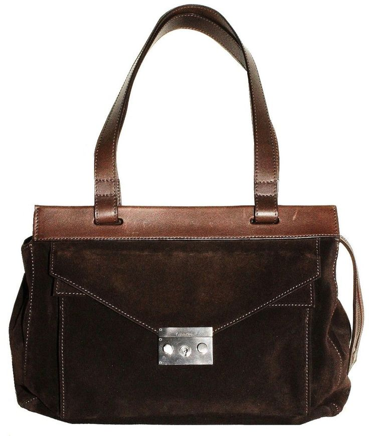 $60.00 CALVIN KLEIN Womens Handbad Suede Brown  #CalvinKlein #ShoulderBag