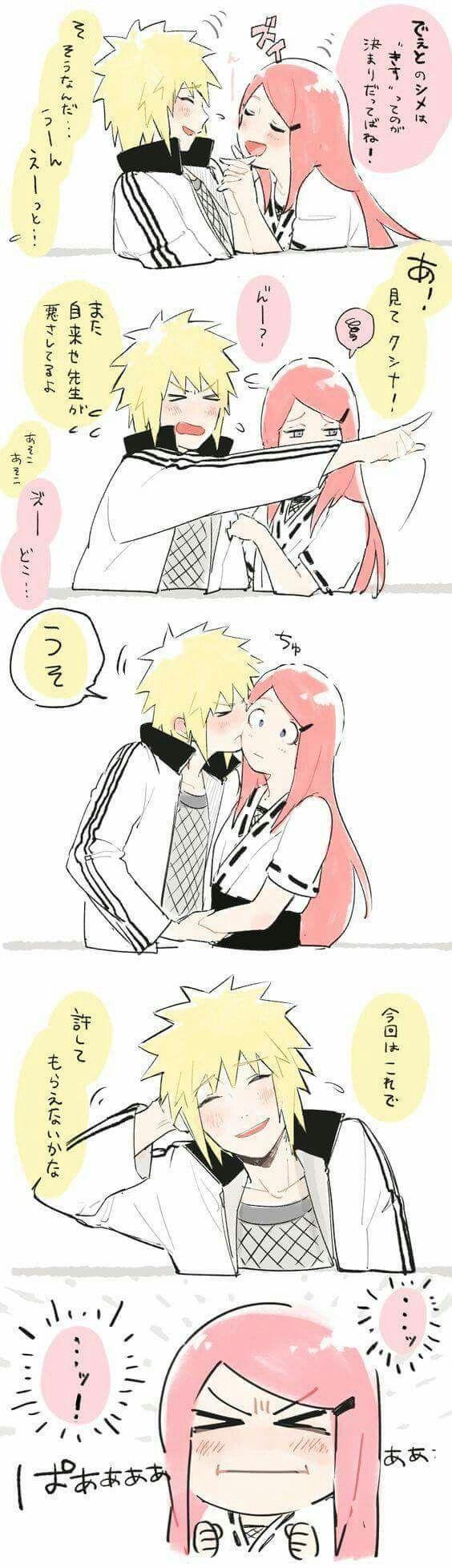 Adorable couple Minato and Kushina <3
