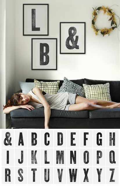 I am pretty excited about the diy typography printable - so cool!